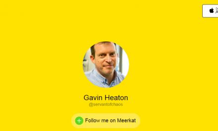 Disrupting the Disruptors – Follow Me on Meerkat