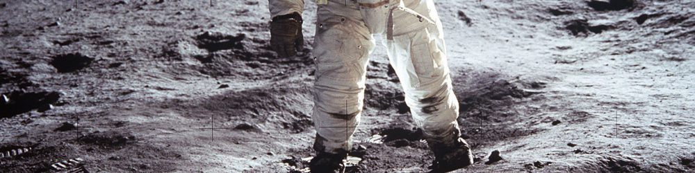 "Astronaut Buzz Aldrin, lunar module pilot, walks on the surface of the Moon near the leg of the Lunar Module (LM) ""Eagle"" during the Apollo 11 exravehicular activity (EVA). Astronaut Neil A. Armstrong, commander, took this photograph with a 70mm lunar surface camera. While astronauts Armstrong and Aldrin descended in the Lunar Module (LM) ""Eagle"" to explore the Sea of Tranquility region of the Moon, astronaut Michael Collins, command module pilot, remained with the Command and Service Modules (CSM) ""Columbia"" in lunar orbit.  NASA Identifier: GPN-2001-000013"