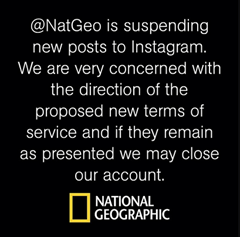National Geographic suspends Instagram account